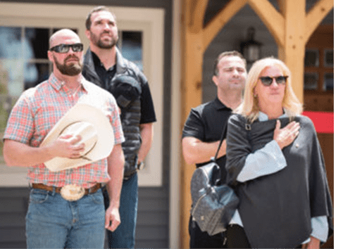 Jared Allen Home for Wounded Warriors Tom Block Hats Off
