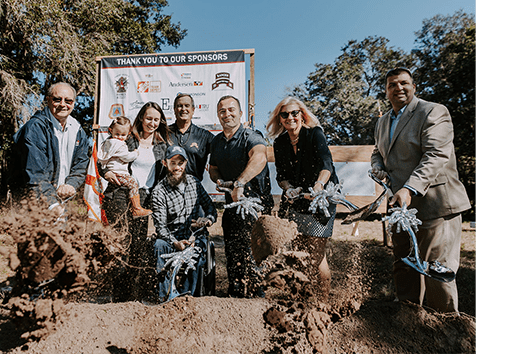 Jared Allen Home for Wounded Warriors Travis Dunn Home Groundbreaking