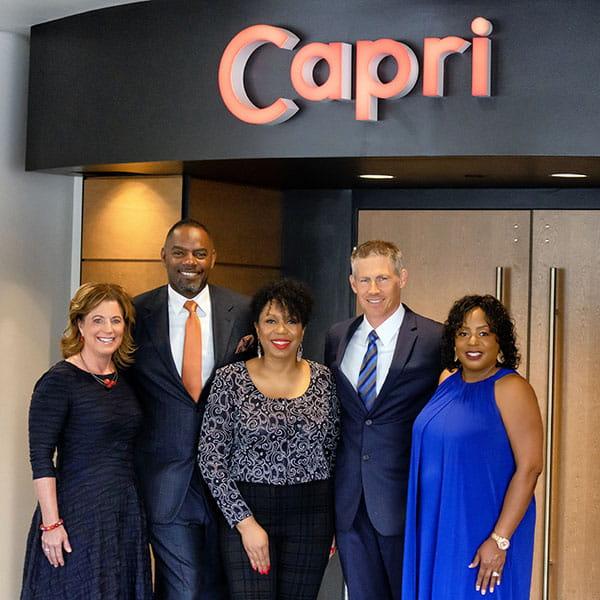 Black Music Month Celebration, hosts outside Capri Theater in Minneapolis