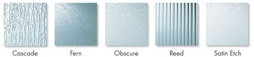 Andersen Patterned Glass Options