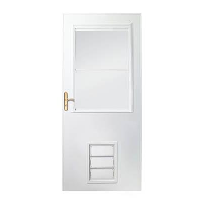 10 Series 1 2 Light Storm Door With Pet Door